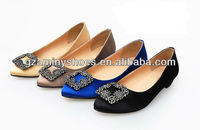 Women flat shoes with decorative buckle