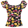 Girls Fruit Printed Slim Top Stylish And Sweet Wearing Clothing Katy Perry Shirts