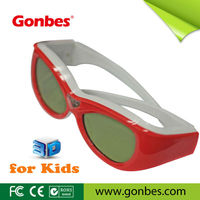 Mini and colored frame Active DLP 3D Glasses for Children