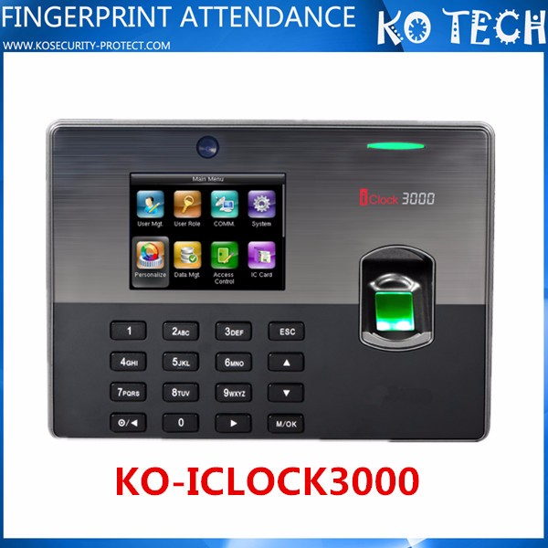 Web Based Fingerprint Time Attendance iClock3000 with Free SDK