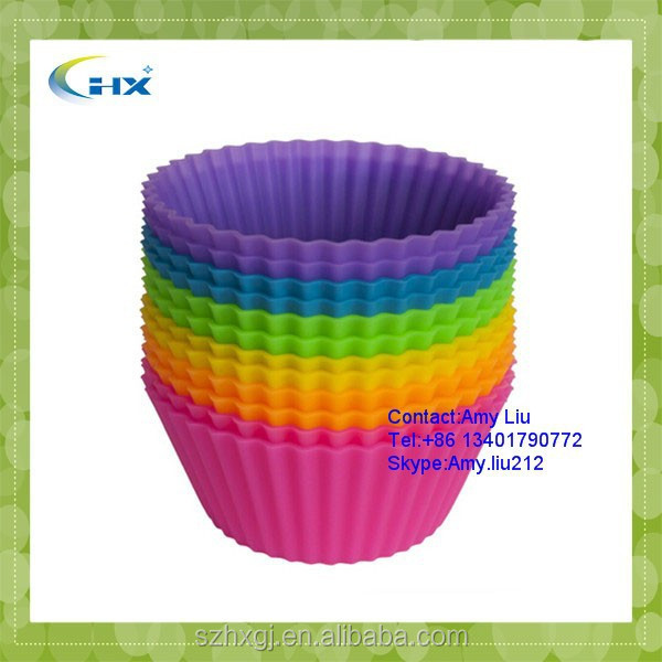 G-2015 Wholesale Best Quality Standard Size Mix colors Cupcake <strong>Silicone</strong> - Baking Cup - Cup Liners 500 Pcs