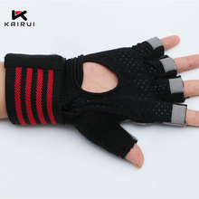 Wholesale high customized quality half finger riding bike cycle gloves