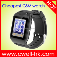 New Arrival 1.22 Inch Touch Screen PS-X15 Quad Band GSM Low Cost Watch Mobile Phone