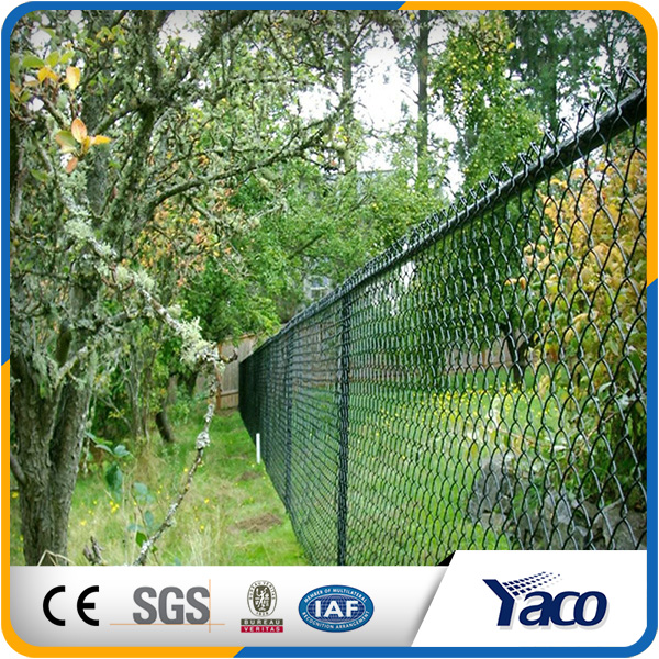Factory Price high quality Q195 Hot Dipped Galvanized Iron Green Chain Link Fence For Protecting