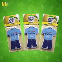 popular world cup football team T-shirt custom design paper air freshener for cars