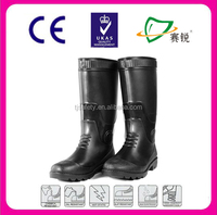 S5 Standard Steel Toe chemistry PVC Protective Boots For Industrial Workers