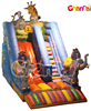 HI CE Animal World Inflatable Slide with Elephant,Tiger,Giraff for funny