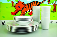 18pcs cheap melamine dinner set