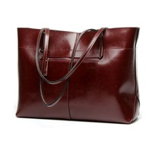 New American luxury Style Genuine Leather Women Shoulder Bag Brand Designer Cowhide genuine handbag newest