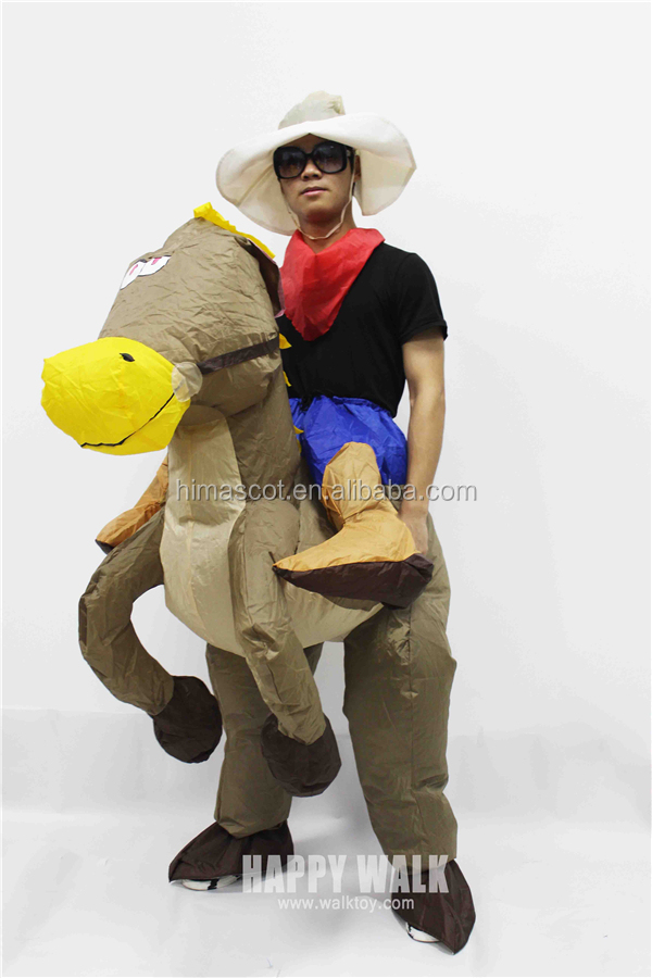 HI CE hottest carnival costumes inflatable horse riding animal costume