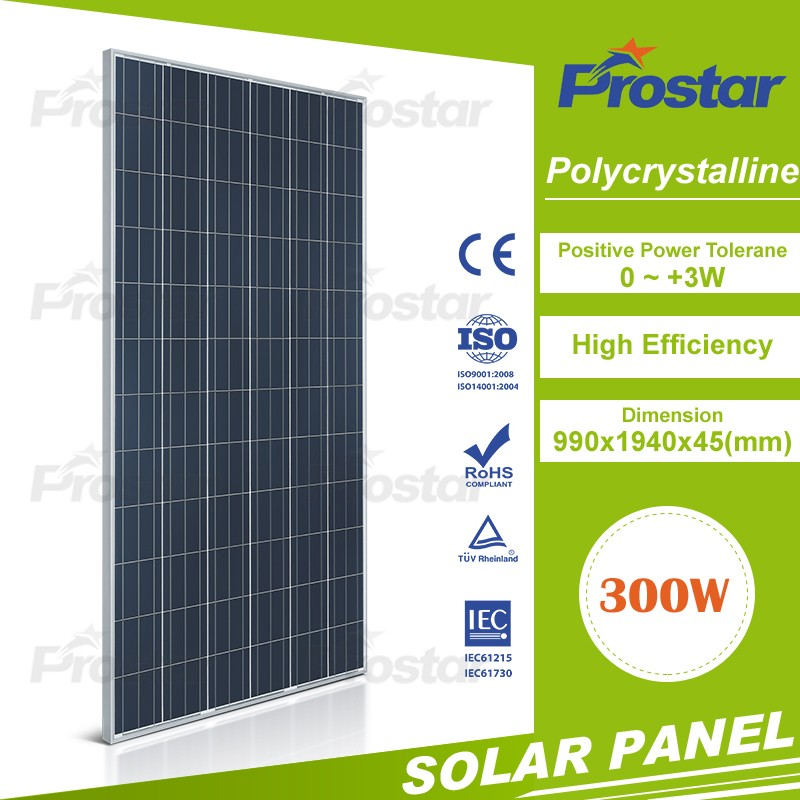 best price per watt poly silicon photovoltaic panel 300w poly solar panel for home power