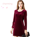 L0006 spring hotsale attractive & elegant & charming long sleeve lady dress