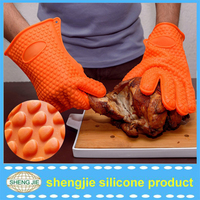 Industrial heat resistant rubber gloves kitchen mitts cooking glove industrial silicone gloves