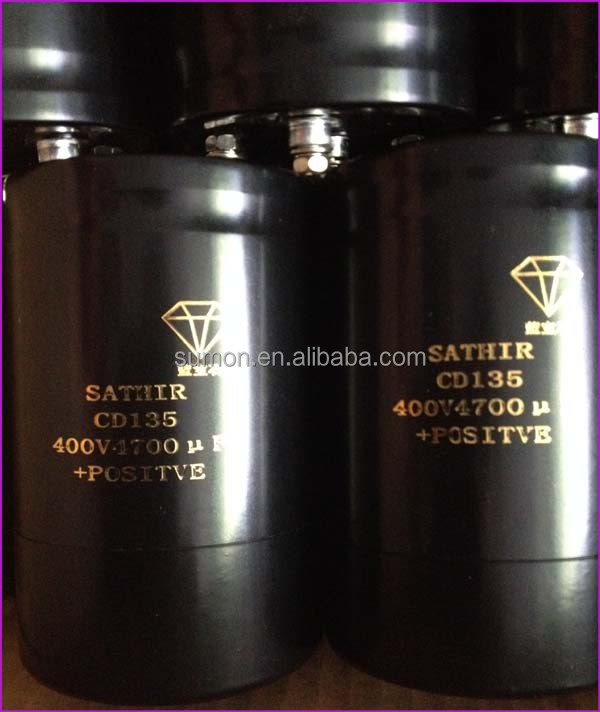 High voltage 450V 4700uF Threaded Bolt Electrolytic Capacitor