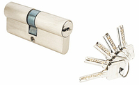High security double side door lock cylinder with computer keys