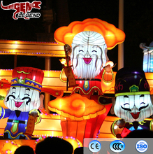 New year chinese lanterns for theme park festival decoration