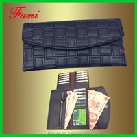 China factory direct wholesale PU leather purse with multi card holder design for woman