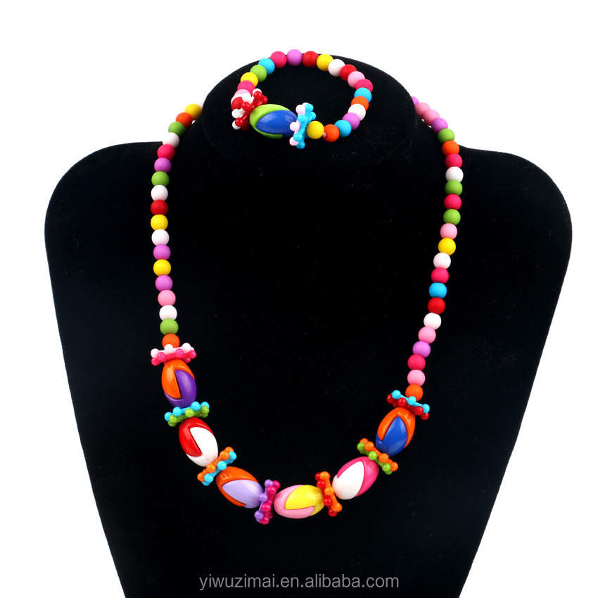 Children african fashion jewelry sets coral beads necklace jewelry set for kids wear