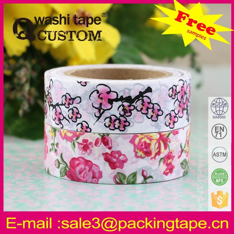 Wholesale washy paper tape masking colorful for kids