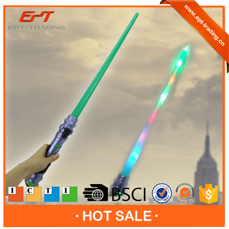 Wholesale 76cm length cheap toy sword with light for boys