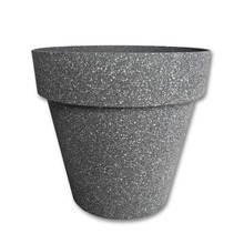 round shape solid color not coated pp plastic flowerpot with tray wholesale
