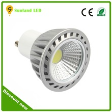 china direct high quality led light gu10 lamps, 4w 5w cob led spotlight gu10