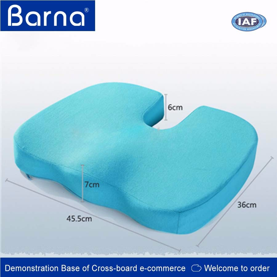 easy-carry travel coccyx support cushion, lumbar support car seat pillow for driver,memory foam cushion for office chair