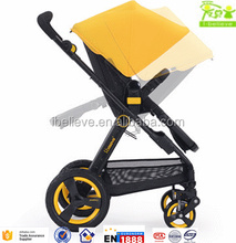 EN1888 approved european style portable pushchair kids carriage with car seat and carry cot deluxe baby stroller 3 in 1