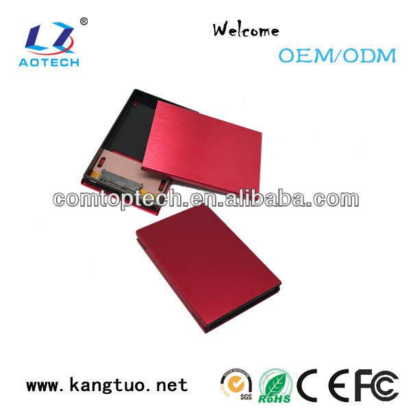 2.5 inch SATA HDD enclosure 12mm portable hdd enclosure External SATA 2.5inch 12mm hdd enclosure
