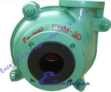 Rubber lined slurry pump for tailing handle