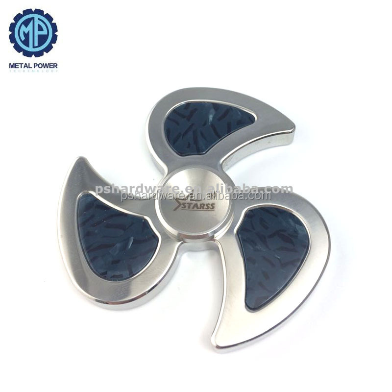 Synthesis Stone Insert Fidget Spinner Stainless Steel OEM Toy Metal