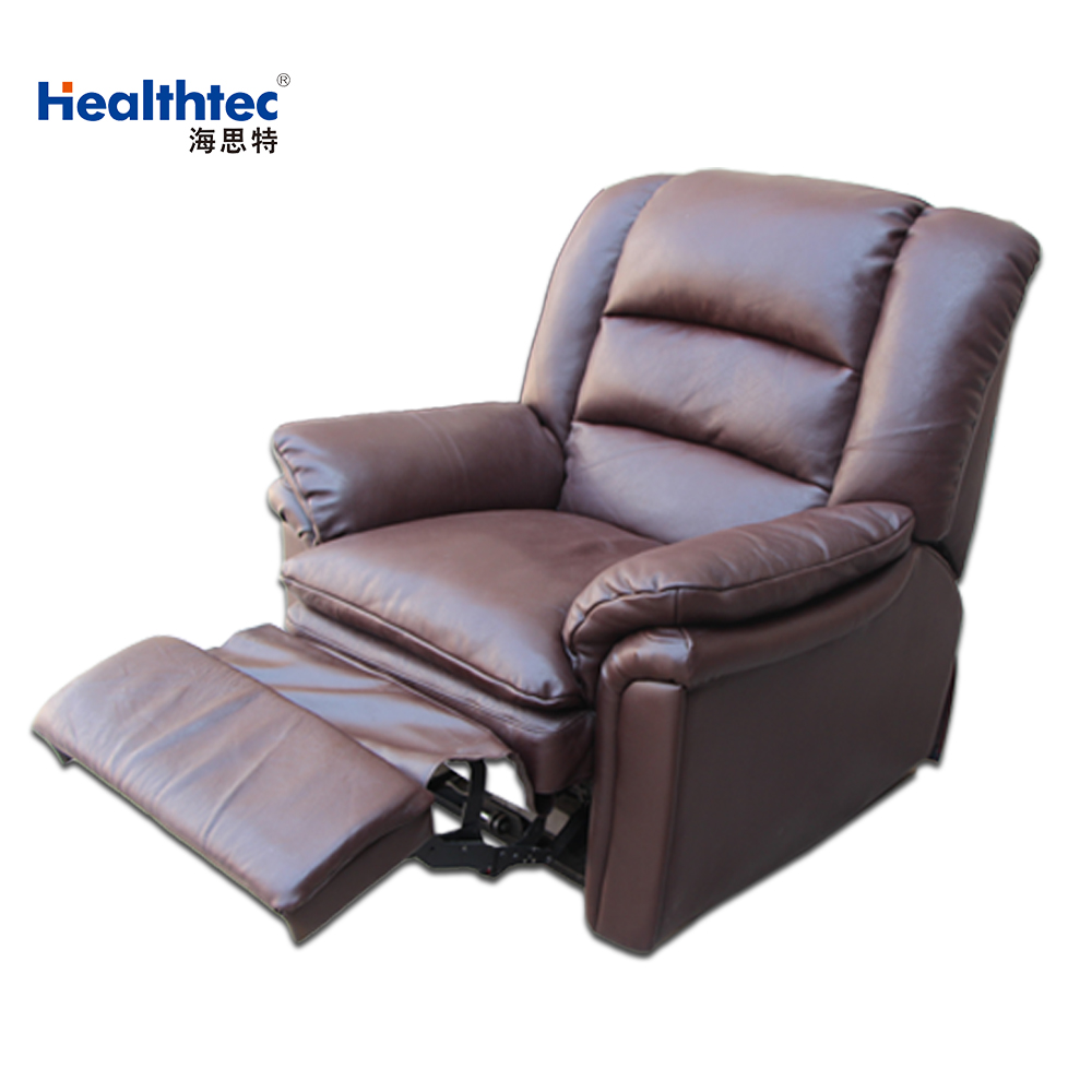 Brown Leather Natuzzi Recliner Sofa Parts Salon Furniture Made With Genuine