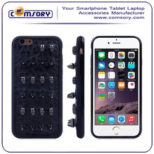 Studded Punk Skull Rivet Leather Phone Case for iPhone 6