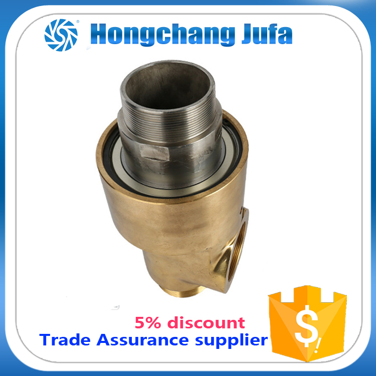 New arrival duoflow threaded union rotating joint copper water rotary union joints