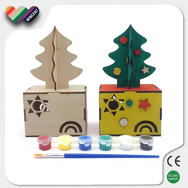 Draw Your Own Favorite Wooden Christmas Tree