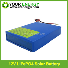 quality deep cycle battery 12v 7.2ah lithium rechargeable for solar outdoor string lights