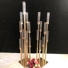 8 / 10 arms gold glass candelabra wedding centerpieces decoration