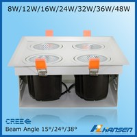 RA>80 4*12w led grille light high power for shop ceiling cheapest price sale from china