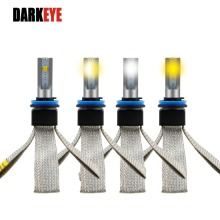 DARKEYE 2PC/set 11000lm H4 H7 LED Car Headlight H8/H11 HB3/9005 HB4/9006 H1 H3 3000K 4300K 6000K CCT