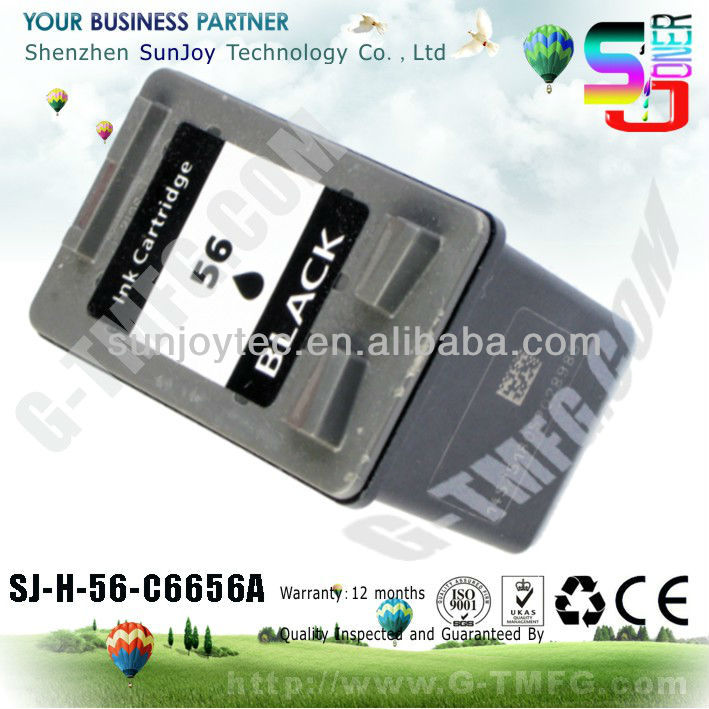C6656A remanufactured INK cartridge for hp C6656A ink cartridge