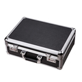 Black Aluminum Case Flight Case Tool Box Metal Hard Briefcase with Dual Locks