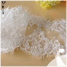 16 cm wide white embroidery Elegant Charming bridal jacquard tulle lace wholesale sold by meter
