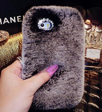 Luxury fur case back cover for iPhone 5 6 6 plus , Plush case for iPhone 7 7 Plus