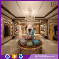 elegant ladies clothes shop counter table design