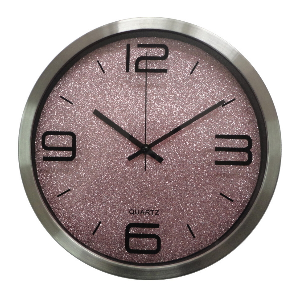 Hot Sale Round Glass Wall Clock for Souvenir