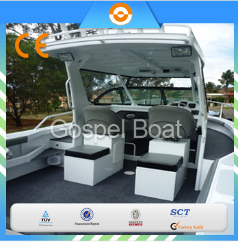all welded 6m aluminum cabin fishing boat with hardtop