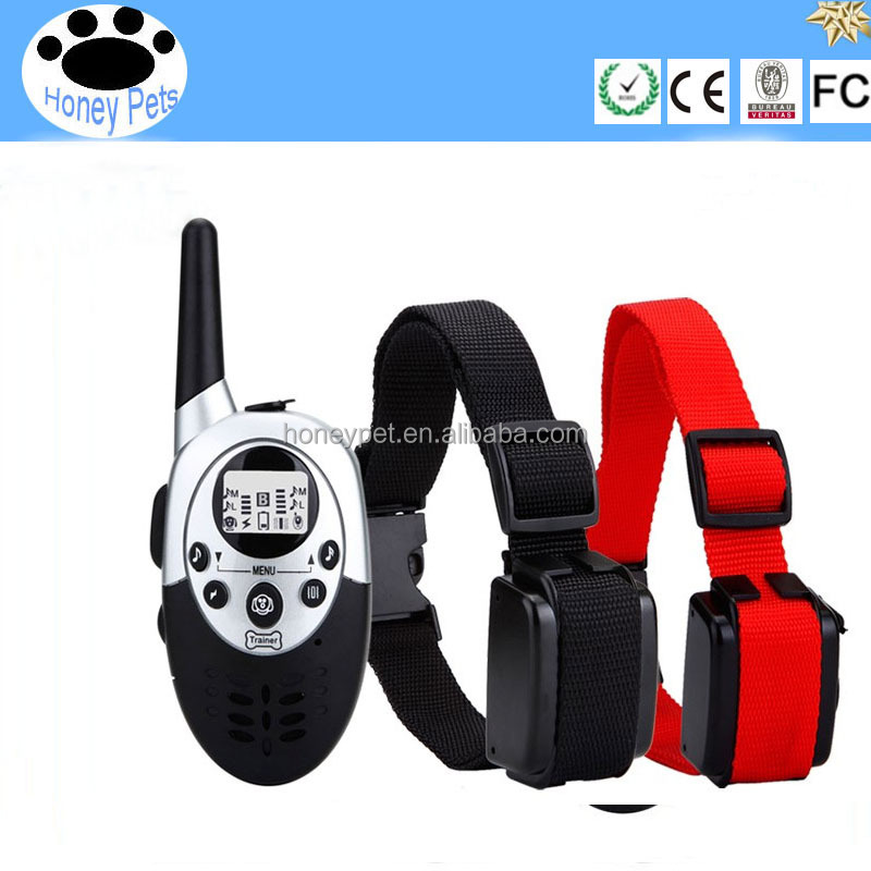 1000 Meters Fashionable & high quality remote control electric dog bark collar, Hot selling in 2016