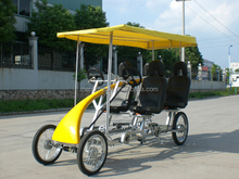 Self-Guided four wheel Two Person Roadster Surrey Bike for outdoor dinner