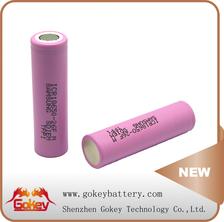 Pink 2C Discharge Current Samsung ICR18650 26 FM 3.7V Rechargeable Battery For Hair Trimmer