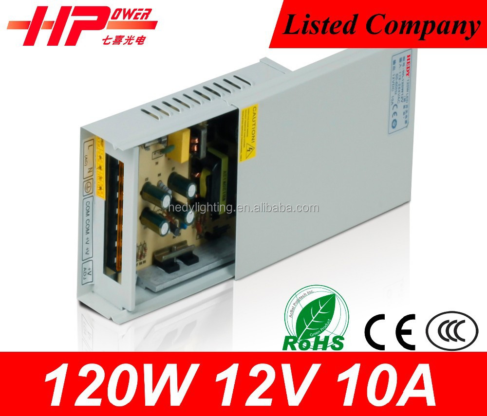 Switching power ac to dc supply led power supply 120w 10 amp 12v dc power supply